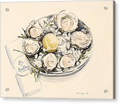 A Plate Of Oysters Acrylic Print