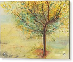 A Poem Lovely As A Tree Acrylic Print by Helena Bebirian