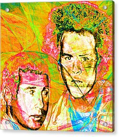 A Poet And A One Man Band Simon And Garfunkel 20140908 Square V2 Acrylic Print