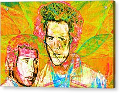 A Poet And A One Man Band Simon And Garfunkel 20140908 V2 Acrylic Print