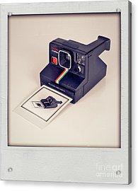 A Polaroid Of A Polaroid Taking A Polaroid Of A Polaroid Taking A Polaroid Of A Polaroid Taking A .. Acrylic Print by Mark Miller