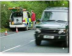 A Police Speed Camera Acrylic Print by Ashley Cooper