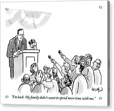 A Politician Addresses A Press Conference Acrylic Print