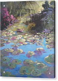 A Pond Reflection Acrylic Print