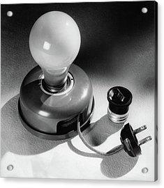 A Portable Light Socket Acrylic Print