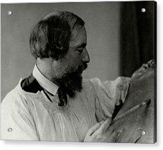 A Portrait Of Augustus John Painting Acrylic Print