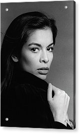 A Portrait Of Bianca Jagger Acrylic Print