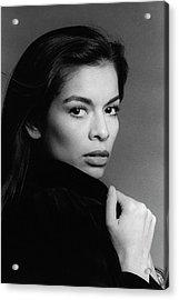A Portrait Of Bianca Jagger Acrylic Print