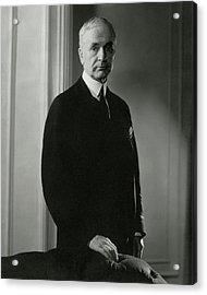 A Portrait Of Cordell Hull Acrylic Print by Edward Steichen