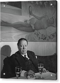 A Portrait Of Diego Rivera At A Restaurant Acrylic Print by Horst P. Horst