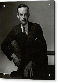 A Portrait Of Eugene O'neill Acrylic Print by Edward Steichen