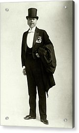A Portrait Of Frederic Villiers In A Tuxedo Acrylic Print