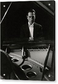 A Portrait Of George Gershwin At A Piano Acrylic Print