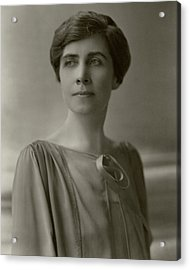 A Portrait Of Grace Coolidge Acrylic Print by Nickolas Muray