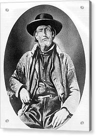A Portrait Of Jim Bridger Acrylic Print by Underwood Archives