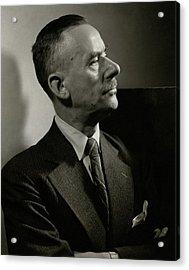 A Portrait Of Thomas Mann Acrylic Print by Edward Steichen