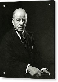 A Portrait Of Thomas W. Lamont Acrylic Print by Edward Steichen