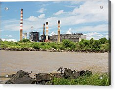A Power Station In Buenos Aires Acrylic Print by Ashley Cooper