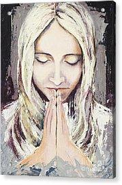 A Prayer... Acrylic Print by Elisabeta Hermann