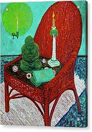 A Prayer For Vincent Acrylic Print by Linda J Bean