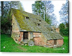 A Preserved Corn Mill From Medieval England - Nether Alderley Mill - Cheshire Acrylic Print