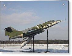 A Preserved F-104g Starfighter Acrylic Print by Timm Ziegenthaler