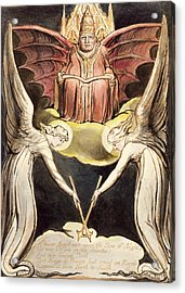 A Priest On Christ's Throne Acrylic Print by William Blake