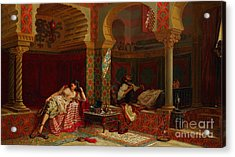 A Private Meeting Acrylic Print by Jan Baptist Huysmans