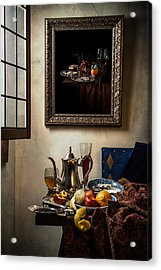 A Pronkstilleven From Vermeer To Kalf Acrylic Print by Levin Rodriguez