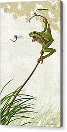 Acrylic Print featuring the painting A Propitious Wind by Ron Crabb