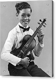 A Proud And Elegant Violinist Acrylic Print by Underwood Archives