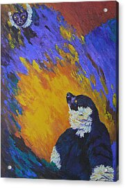 Acrylic Print featuring the painting A Proud Mother by Margaret Saheed