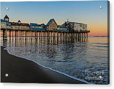 A Quiet Evening At The Pier Acrylic Print