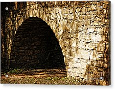 A Quiet Path Through Stone Acrylic Print by Lincoln Rogers