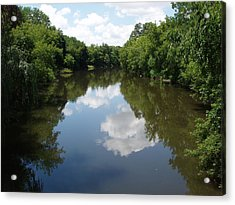 A Quiet River Acrylic Print by Teresa Schomig