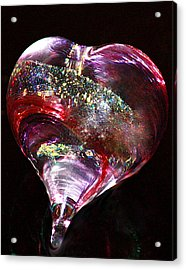 A Rainbow's Heart Acrylic Print by The Art Of Marilyn Ridoutt-Greene