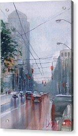 A Rainy Day In Dayton Acrylic Print