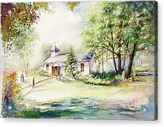 Acrylic Print featuring the painting A Rare Day by Patricia Schneider Mitchell