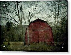 A Red Barn Acrylic Print by Christine Annas