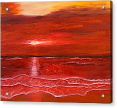 A Red Sunset Acrylic Print
