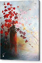 A Red Vase Acrylic Print
