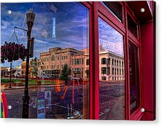 A Reflection Of Wausau's Grand Theater Acrylic Print