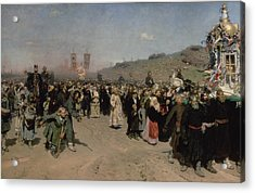 A Religious Procession In The Province Of Kursk, 1880-83 Oil On Canvas Acrylic Print
