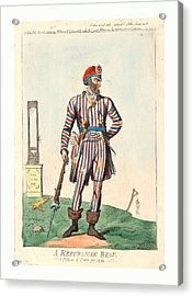 A Republican Beau, A Picture Of Paris For 1794, Cruikshank Acrylic Print by English School