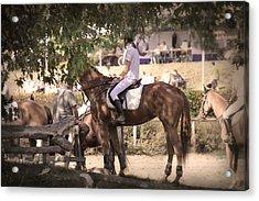 A Rider On A Horse Acrylic Print