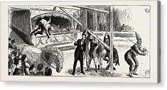 A Riding-lesson At Sangers Circus Acrylic Print