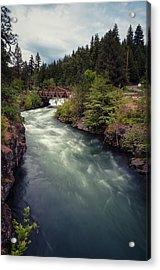 Acrylic Print featuring the photograph A River Runs Through It by Brian Bonham