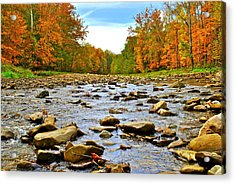A River Runs Through It Acrylic Print by Frozen in Time Fine Art Photography