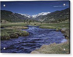 A River Runs Thru It Acrylic Print by Tom Wilbert