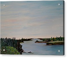 Acrylic Print featuring the painting A River Shoreline by Marilyn  McNish